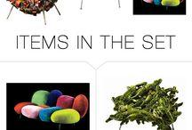 A- B. SET HNOS. CAMPANA / Ambiente de estilo libre, pero con la condición de que incluya algún mueble de los hermanos Campana (diseñadores brasileños) Inspiración:  reciclaje.