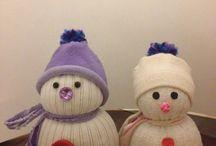 Cosas para regalar hechas por ti / Muñecos de nieve