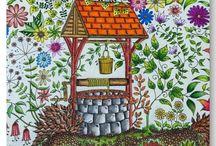 Pinturas com lápis de cor