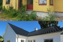 Before & After restorations / See homeowners transforming their old houses and creating interesting modern solution to create their perfect home.