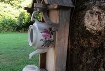 case per uccellini e decorazioni da giardino
