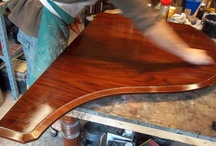 Restoration. Antique snooker & billiards tables, & antique furniture / Examples of restoration at Brown's Antiques. Includes antique snooker and billiards table repairs, French polishing, piano restoration.