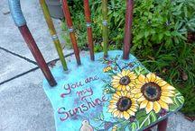 chaise peint