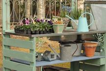 Gardening bench ideas