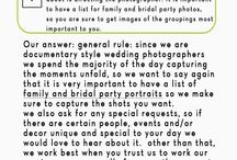 Top Ten Questions to Ask Your Wedding Photographer (with answers!) / It's your big day, don't trust just anyone to capture it forever. We've put together the top ten BEST questions to ask your wedding photographer (and included our answers!).