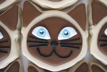 kitties... / Cookies with cats and kittens on / by The Cupcake Lady (SA)