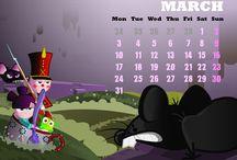March / Marzo / Calendar / Calendario