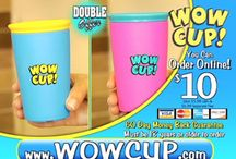 """Wow Cups / With Wow Cups just fill, twist and sip and it won't ever drip! Just add kids' favorite beverage, attach the spill free lid, and they're off! Winner of the prestigious """"Mom's choice award"""", Wow Cups uses an auto-sealing technology that allows liquid to flow only when you drink."""