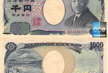 Billets Japon / Le yen est la devise officielle du Japon. Les billets de banque du Japon en circulation sont :  1000, 2000, 5000, 10 000 Yens. Au Japon, la plupart des gens paient en cash et les grosses coupures de 10 000 yens seront acceptées partout dans les magasins sans problème!