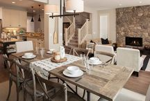 ReCreate the Room: Rustic Dining / We loved the look and comfort of this rustic open floor plan that we found on Houzz. See how we ReCreated it using Sheely's Furniture and Appliances' merchandise!
