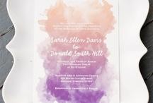 Colors: Watercolor sunset wedding / Wedding Color Palette: Watercolor sunset Purple, lavender, pink, rose, coral, peach