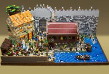 The Market Gate LEGO Display / Photos of my 2016 LEGO display, titled The Market Gate. Read about it at http://www.bricktease.com/blog/2016/the-market-gate-moc.