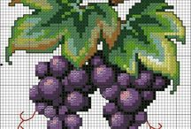 frutta a punto croce 〰️✂️