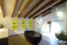 Lebenswelten - Private-Spa / Eigene Wellness-Oasen, abschalten was mit Alltag zu tun hat. Holz, Stein, Glas und ausgewählte Textilien
