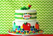Hungry caterpillar cakes