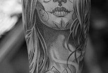 Tatuajes día de los muertos