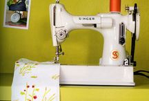 Sew ~ Feather weights/ sewing machines