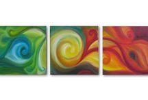 Acrylic absract / by Sharon Swing
