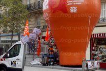 Montgolfière publicitaire hélium ou auto-ventilée