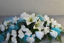 centre de table et fleurs pour un mariage