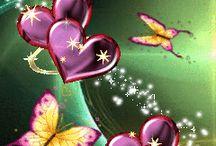 Butterfly & hearts