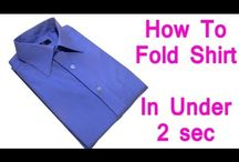 how to fold shirt folding clothes