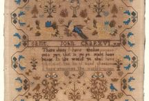 ANTIQUE 19TH CENTURY NEEDLEWORK SAMPLER BY ELIZABETH GASKIN 1850