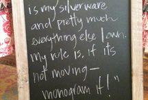 yeah..i like to monogram everything