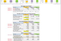 Mortgage Calculator with Taxes Insurance PMI & HOA Fees / Simple Mortgage Calculator with Taxes, Insurance, Private Mortgage Insurance, Home owners associations dues to calculate total mortgage payment and figure out debt to income rations and loan to value ratio.  Include amortization schedule and mortgage calculator with extra payments.