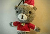 amigurumi Christmas teddy tree ornament