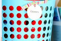 Dollar Store Laundry Organizers