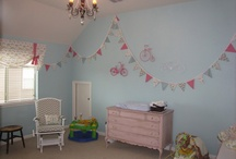 Nursery Ideas / To keep my craft room AND not have to paint, how about a pink and blue nursery if it's girl!