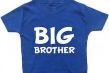 Brother and Sister T-Shirts / Here are some of our cute brother and sister t-shirts which are great to dress little siblings in! Available to buy at www.cheekybabytees.co.uk