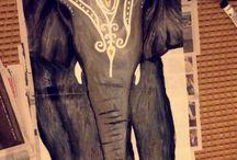Elefante de india / Acrilico en tela