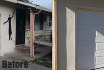 Before and After / Some pictures of garage doors and automatic driveway gates.