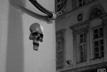 Kino Skull / Street Art, Skulpture,