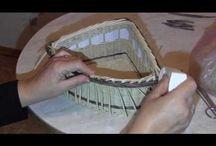 Видео плетения из газетных трубочек