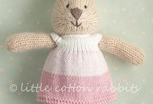 Knitted Cotton Rabbits
