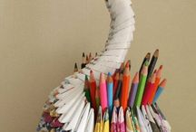 Artistic creations  from recycled products / Beautiful Artistic Creations born of  Recycling
