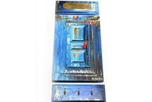Miniature doors lucky charms/key holders.