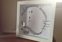 Artwork by Thing 1, Thing 2 and Thing 3.....  / Artwork by the Things and ideas for displaying artwork.....