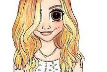 imagenes de chicas dibujadas