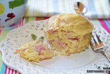 Mug cakes salados