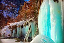 Hanging Lake - Colorado Info / Colorado nature is magnificent, especially in the winter time! #ColorfulColorado