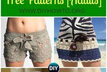háčkované šortky