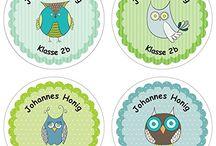 Individuelle Namens Aufkleber für deinen Schulanfang (personalisierte Sticker) / Liebevoll gestaltete, individuelle Namensaufkleber für den Schulanfang und für viele weitere Gelegenheiten.