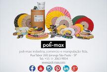 POLIMENTO INDUSTIAL / produtos e materiais para polimento industrial.  massas, rodas, discos e escovas de polir feltros, equipamento, ferramentas e mais www.facebook.com/polimaxpolimento www.poli-max.com contato(at)poli-max.com +55 11 2063-9854