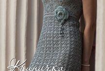 Horgolt női ruha...