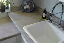 Diy Kitchen counter concrete
