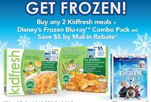 Kidfresh + Disney Frozen #FrozenKidfresh / Kidfresh Collaborates with Disney to Promote the Frozen Blu-ray™ Combo Pack Release During Frozen Food Month #FrozenKidfresh